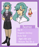 Beatrice Character Sheet by VintageOddity