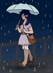Ouri in the Rain by VintageOddity