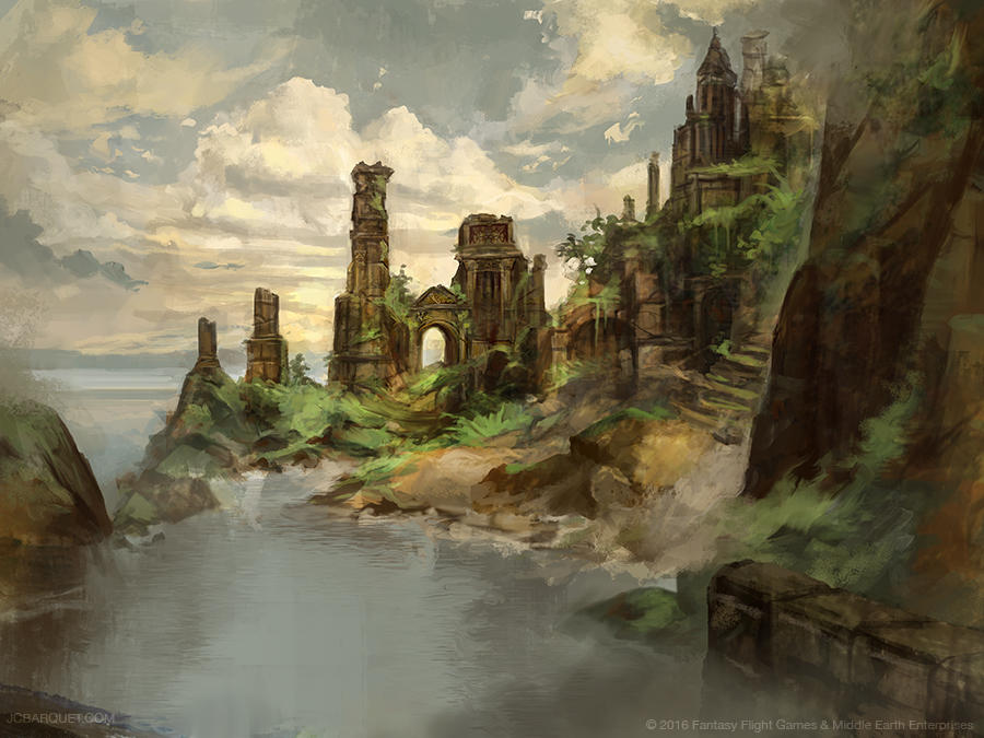 Flooded Ruins - Lord of the Rings TCG by jcbarquet