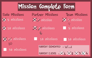 Wakana's Mission Complete Form by mandarain-a