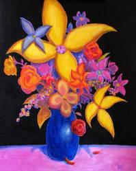 FLOWERS 3 Original Contemporary Art PATTY by Sean-Patty