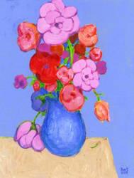 FLOWERS 9 Original Contemporary Art PATTY by Sean-Patty