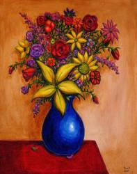 FLOWERS 1 Original Contemporary Art PATTY by Sean-Patty