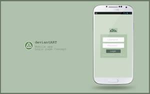 deviantART login concept [mobile app] by danishprakash