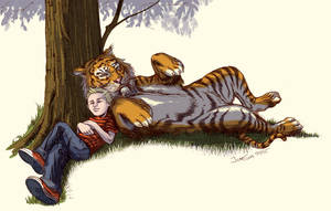 Calvin and Hobbes by crozonia