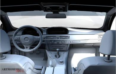 BMW m3 e92 Interior  Wip Test render by Artsoni3D