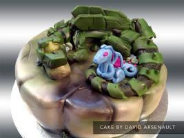 Spartan Dragon Cake by DavidArsenault