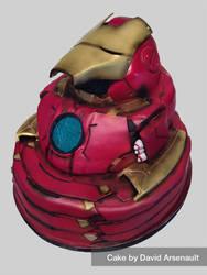 Iron Man Cake by DavidArsenault