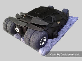 Batman Tumbler Cake Backside by DavidArsenault