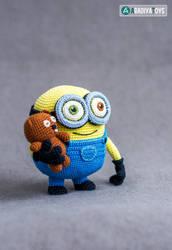 Minion Bob and Bear Tim from 'Minions', pattern by AradiyaToys