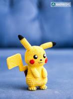 Pikachu from 'Pokemon', amigurumi pattern by AradiyaToys