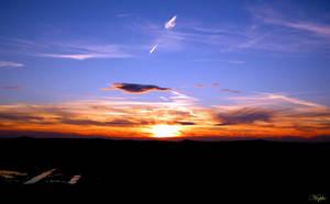 autumn sunset by Niophee
