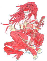 Red Monica by Halfax