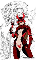 Samurai Hotness by Halfax