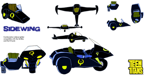 Sidewing sidecar glider Combo by KiteBoy1