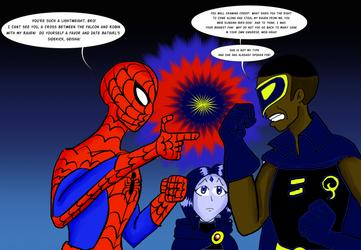 Spiderman vs Quickwing by KiteBoy1