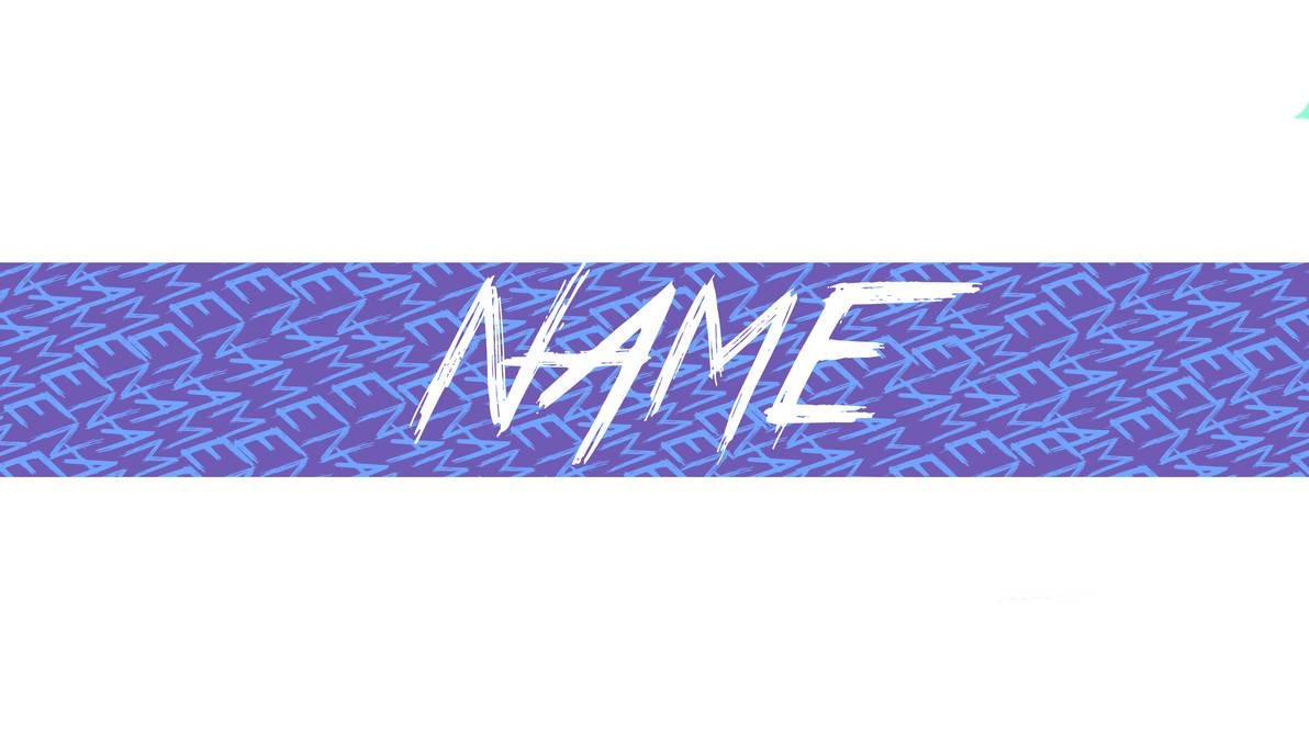 youtube banner name spam blue white ut by untalentedartistyt