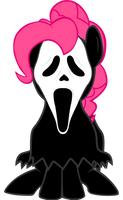 Pinkie Pie Ghost Face by LcPsycho