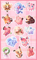 Stickers- Fairy Types by RileyKitty