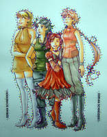 Sascha and sisters by LadyCat17