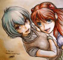 Rei - Asuka by LadyCat17