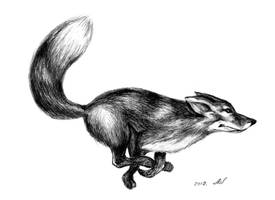 The fox is running) by Alik-Volga