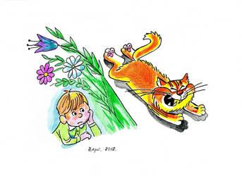 The cat is running away) by Alik-Volga