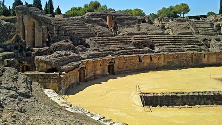 Italica Amphitheater - 03 by calasade