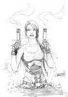 Lara Croft Sketch 08 by Arciah