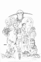Dissension #1 cover pencils by Arciah