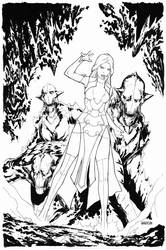 Dissension #3 cover ink4 by Arciah