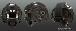 High Poly Green Helmet by Wewvic