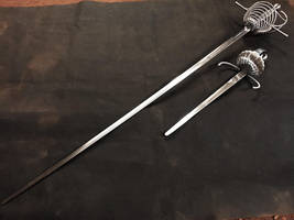 7 rings rapier and dagger set ST19 (2) by Danelli-Armouries