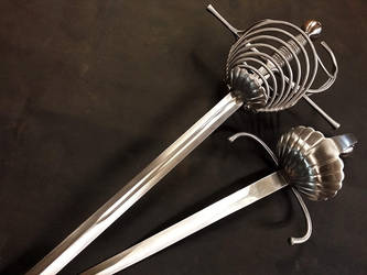 7 rings rapier and dagger set ST19 (3) by Danelli-Armouries
