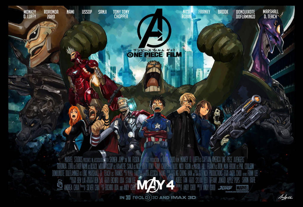 One Piece Avengers 2013 by AndiMoo