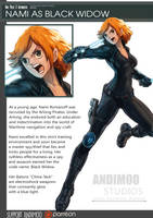 One Piece Avenger Nami as Black Widow by AndiMoo