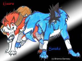 Gaara and Sasuke by Jasuke