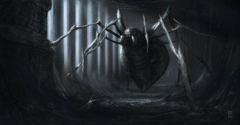 Giant Spider by TyphonArt