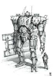 Defender Mecha by TyphonArt