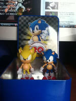My Super Sonic and Sonic figures by ClassicSonicSatAm
