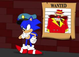 Officer Sonic tracking down Mr.Big aka The Eggman by ClassicSonicSatAm