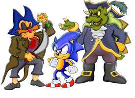 Sonic Double Pirate Trouble by ClassicSonicSatAm