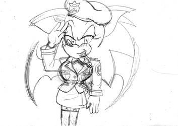 Sapphire Sonic as a Gun agent by ClassicSonicSatAm