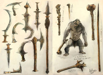 Orc and Weapons by Artigas