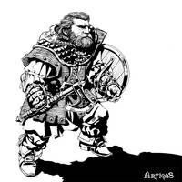 Dwarven warrior for Tagmar 2 by Artigas