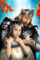 Aragorn and Arwen by kjh311