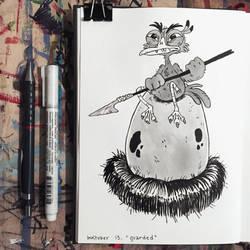 Inktober day 13: Guarded by Zerda-Fox