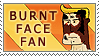 Burnt Face Man Fan by 1stClassStamps