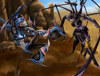 Desert Battle by ChronosAbyss