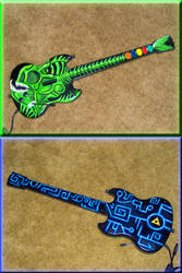 Guitar Hero Custom Zora Axe by poisonedshadow